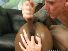 Totally insane throat fuck of black girl