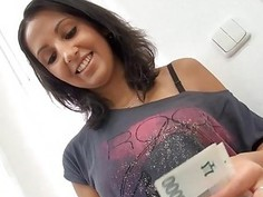 Babe gets a moist fucking session from guy