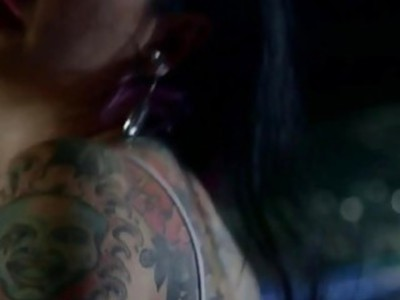 Hardcore bang with nasty punk princess Joanna Angel on the sofa