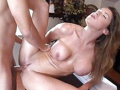 Alluring milf babe is savouring a long male dong