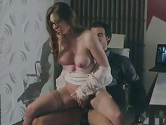 Huge tits babe Veronica Vain twat ripped
