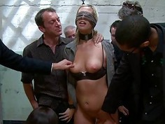 Hawt siren acquires a excruciating group torture