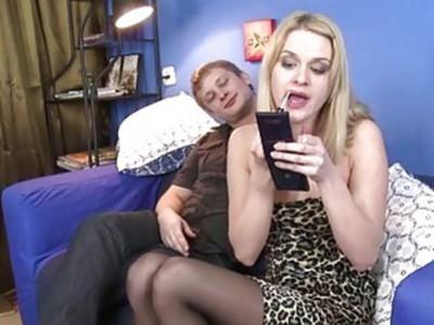Hotty is feeling how pecker stuffs her holes