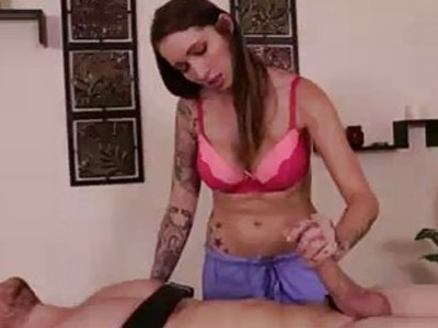 Tattoed Dominatrix Wants Poor Guy To Moan