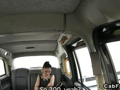 Romanian busty amateur banged in British cab