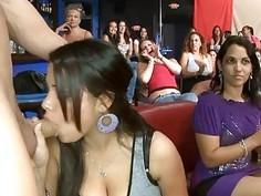 Explicit and wild fellatio session for stripper