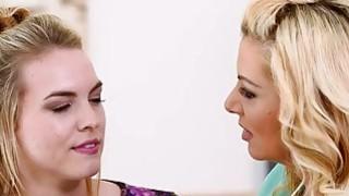 Big Tits Blonde pussy licking lesbians to reach orgasm