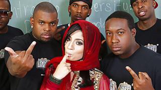 Nadia Ali interracial gangbang