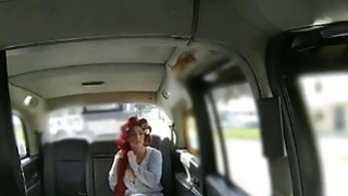 Passenger licked and banged in her pussy by fraud driver