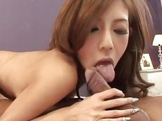 Strong pleasure for peachy tits Asian model Ramu Nagatsuki