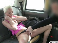 Booby passenger loves drivers hard cock pounding her good