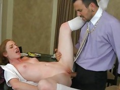 Hotty captivates dude with her wanton dong sucking