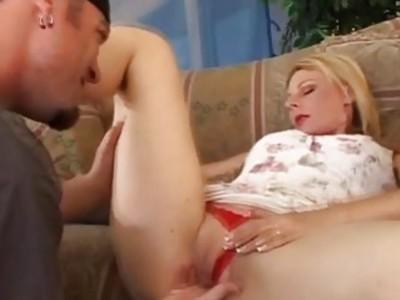 Blonde Swinger Tries Anal Creampie