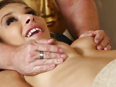 Poor customers fucked and fucked on massage table