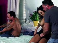 Big jugs bitch Nadia Styles deepthroats and rammed real hard