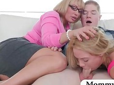 Huge jugs milf Melanie Monroe amazing threesome session