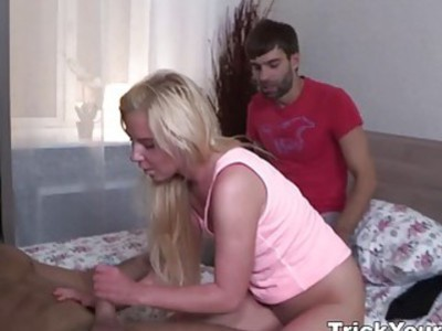 Trick Your GF - Slut punished with surprise fuck
