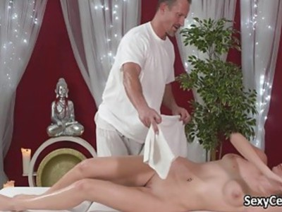 Tattooed beauty massaged and fucked