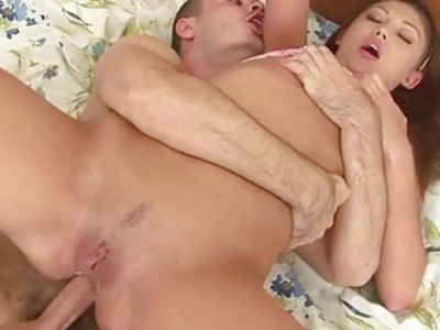 Pretty darling acquires plowing from horny chap