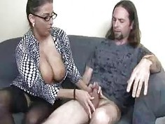 Milf Mom Cannot Take Her Eyes Away From Teens BF
