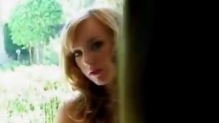 Horny redhead teen is seduced by naughty big boobed MILF