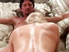 Nympho big boobed housewife fucks her hunky neighbor
