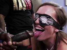 Jamie Jackson gets gangbanged by big black cock