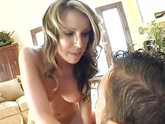 Sexy bombshell is working out her lustful wet muff
