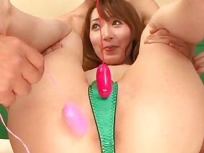 Kou Minefuji drilled in both her holes in threesome
