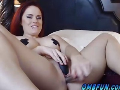 OMBFUN.com BIG SQUIRT @ 6-15 Titty Brunette巨大的Cum Orgasm OhMiBod振动器