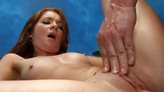 Stroking beautys muff turns her into a slut