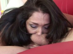 Sexy brunette is having unforgettable sex with her lover