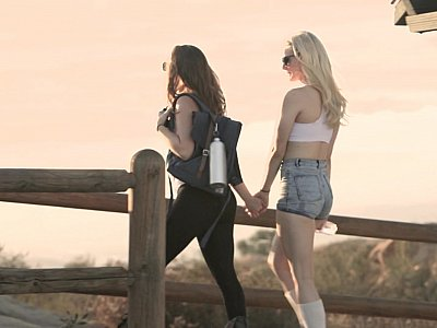 Adventurous females take a wild erotic walk
