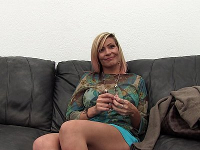Slutty MILF finds the interview rather erotic