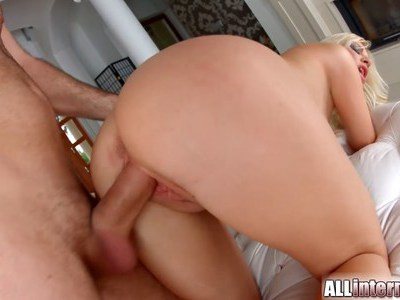Sexy blonde pounded hard and creampied