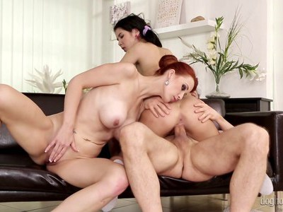 Young girl fucking with couple