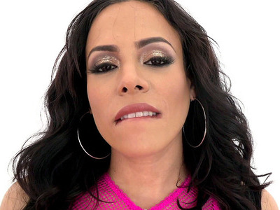 Sultry bombshell Luna Star flaunts her huge tits in a sheer pink onesie
