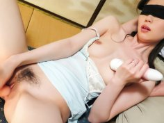 Misaki Yoshimura rubs tits and plays with cock