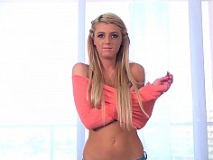 Horny teenager disrobes elegantly to show off