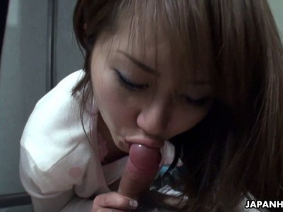 Asian slut happy to suck cock