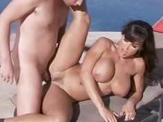 Playgirl performs blow job before great banging