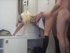 Lustful Wife  Open Her Hot Legs N Fucks Over A Vanity Table