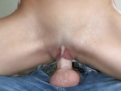 Breasty chick is riding on a thick cock skillfully