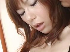 Miki milf in lingerie starts fucking hard