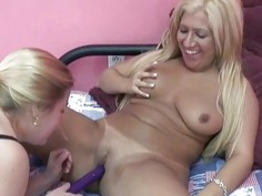 Monique is getting fucked by busty MILF Liisa