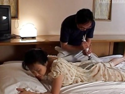 Runa gets vibrator and hard penis