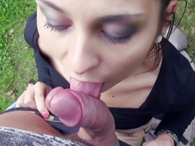 Eurobabe fucked and creampied for cash
