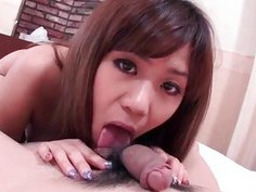 Nozomi Kahara curvy ass bimbo gets fucked right