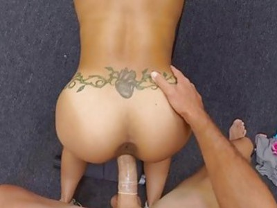 Muscular chick gets fucked by pawn dude