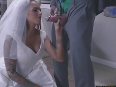 The Bride sucking Juelz Venturas big cock deep throat